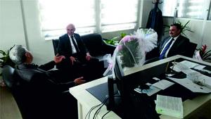 Yeni SGK Müdürüne Hoş  Geldin Ziyareti