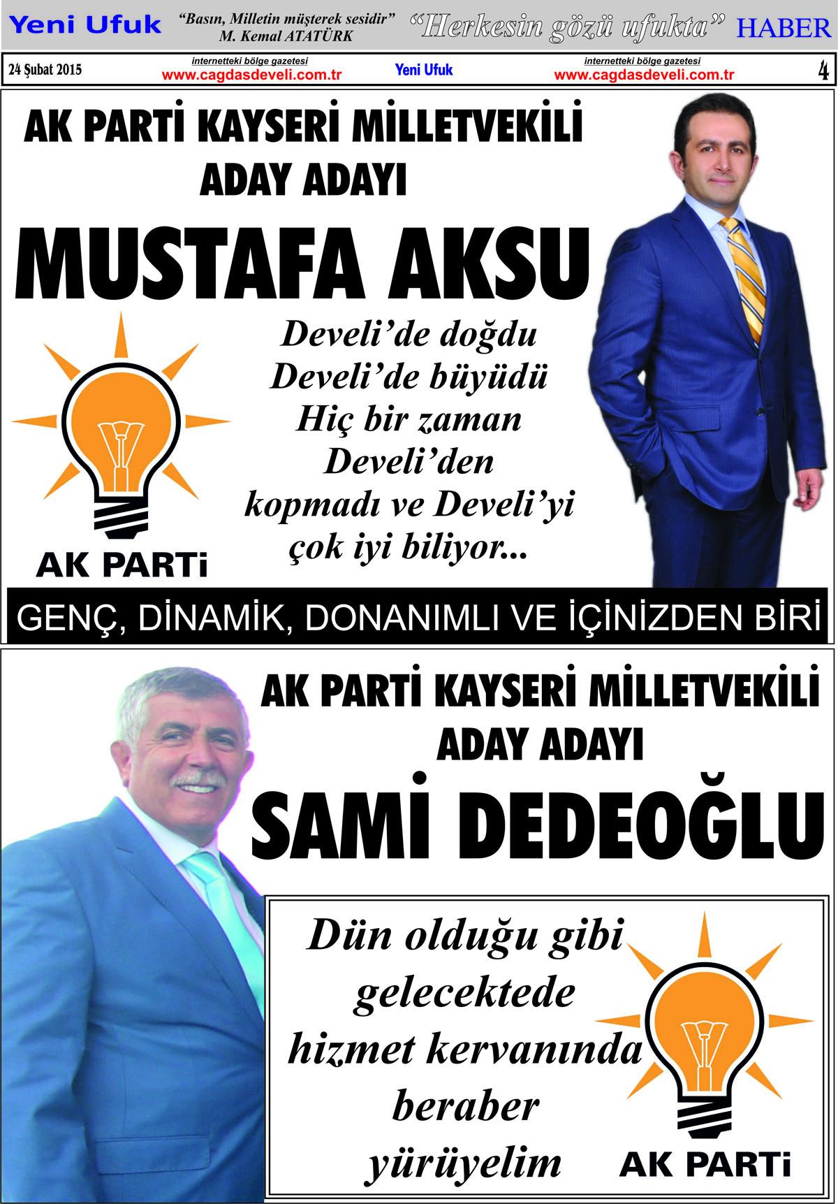 Yeni Ufuk Bölge Gazetesi, 24 Şubat 2015, Sayfa 4