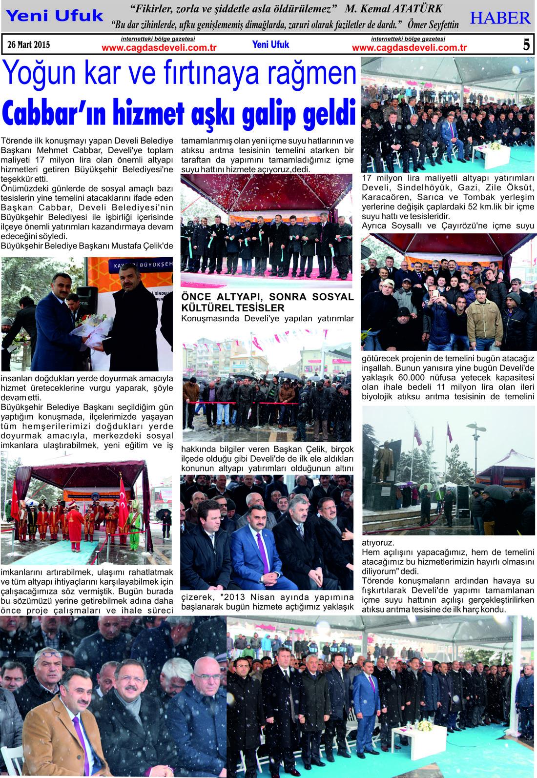 Yeni Ufuk Bölge Gazetesi, 26 Mart 2015, Sayfa 5