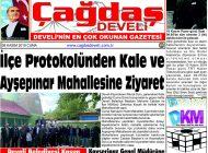 Çağdaş Develi Gazetesi, 08 Kasım 2019, Sayfa 1