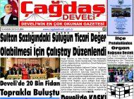 Çağdaş Develi Gazetesi, 15 Kasım 2019, Sayfa 1