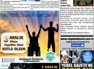 Çağdaş Develi Gazetesi, 06 Aralık 2019, Sayfa 4