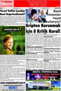 Çağdaş Develi Gazetesi, 17 Ocak 2020, Sayfa 8