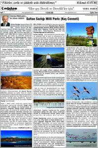 Çağdaş Develi Gazetesi, 17 Ocak 2020, Sayfa 7