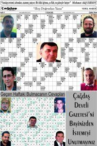 Çağdaş Develi Gazetesi, 17 Ocak 2020, Sayfa 6