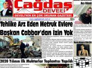 Çağdaş Develi Gazetesi, 24 Ocak 2020, Sayfa 1