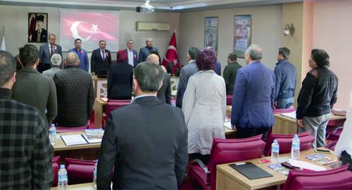 Develi Belediyesi Mart Ayı Meclisinde Şehitler Dualarla Yâd Edildi…