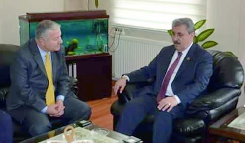 Büyük Birlik Partisi Genel Başkanı  Mustafa Destici  ve Genel Başkan Yardımcısı  Ali Keser Develi'deydi