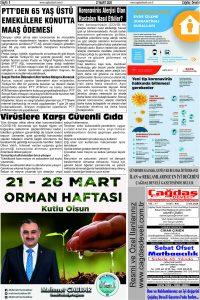 Çağdaş Develi Gazetesi, 27 Mart 2020, Sayfa 5