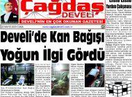 Çağdaş Develi Gazetesi, 22 Mayıs 2020, Sayfa 1