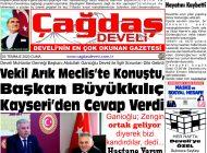 Çağdaş Develi Gazetesi, 03 Temmuz 2020, Sayfa 1