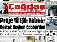 Çağdaş Develi Gazetesi, 10 Temmuz 2020, Sayfa 1