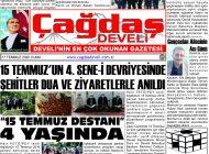 Çağdaş Develi Gazetesi, 17 Temmuz 2020, Sayfa 1