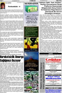 Çağdaş Develi Gazetesi, 24 Temmuz 2020, Sayfa 5