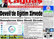 Çağdaş Develi Gazetesi, 04 Eylül 2020, Sayfa 1