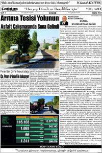 Çağdaş Develi Gazetesi, 16 Ekim 2020, Sayfa 3