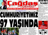Çağdaş Develi Gazetesi, 30 Ekim 2020, Sayfa 1