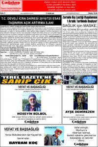 Çağdaş Develi Gazetesi, 27 Kasım 2020, Sayfa 8