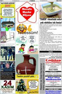 Çağdaş Develi Gazetesi, 27 Kasım 2020, Sayfa 5
