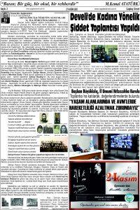 Çağdaş Develi Gazetesi, 27 Kasım 2020, Sayfa 2