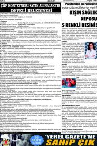 Çağdaş Develi Gazetesi, 22 Ocak 2021, Sayfa 4