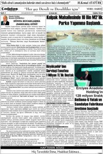 Çağdaş Develi Gazetesi, 22 Ocak 2021, Sayfa 3