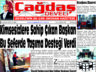 Çağdaş Develi Gazetesi, 22 Ocak 2021, Sayfa 1