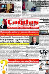 Çağdaş Develi Gazetesi, 12 Şubat 2021, Sayfa 1