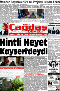 Çağdaş Develi Gazetesi, 07 Mayıs 2021, Sayfa 1