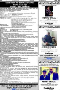 Çağdaş Develi Gazetesi, 14 Mayıs 2021, Sayfa 4