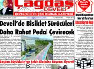 Çağdaş Develi Gazetesi, 14 Mayıs 2021, Sayfa 1