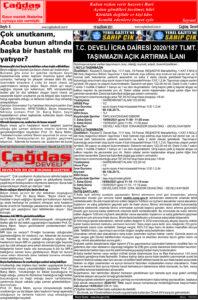 Çağdaş Develi Gazetesi, 18 Haziran 2021, Sayfa 8