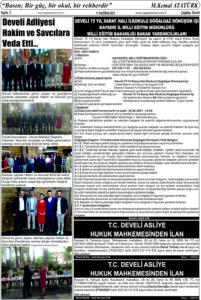 Çağdaş Develi Gazetesi, 11 Haziran 2021, Sayfa 2