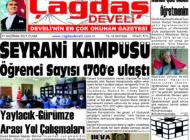 Çağdaş Develi Gazetesi, 11 Haziran 2021, Sayfa 1