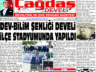 Çağdaş Develi Gazetesi, 02 Temmuz 2021, Sayfa 1