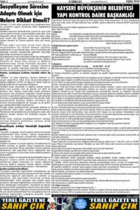 Çağdaş Develi Gazetesi, 30 Temmuz 2021, Sayfa 4