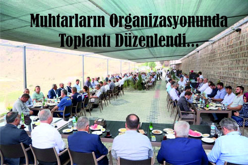 Develi Muhtarlar Derneğince Düzenlenen Toplantı