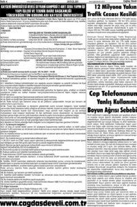 Çağdaş Develi Gazetesi, 24 Eylül 2021, Sayfa 4