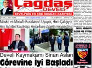Çağdaş Develi Gazetesi, 24 Eylül 2021, Sayfa 1