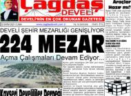 Çağdaş Develi Gazetesi, 22 Ekim 2021, Sayfa 1